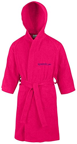 Speedo Microterry Junior Albornoz, Niños, Rosa Raspberry Fill, 10