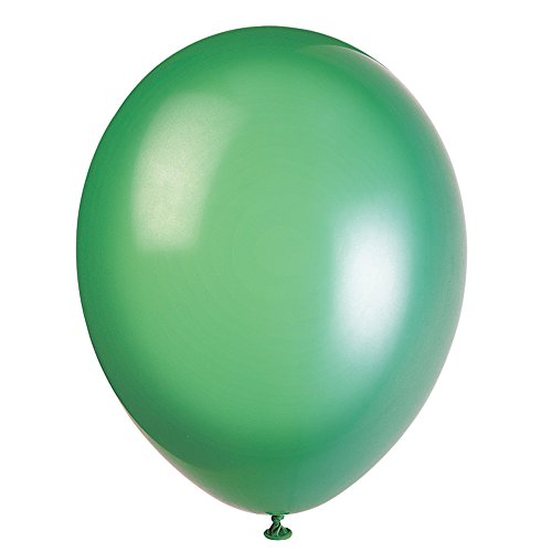 Unique Party - Globos Decorativos de látex, 50 Unidades, Color Verde (56864)