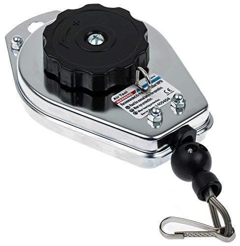 Ressort traction équilibreur avec mini Kara Biner 1.0À 2.0kg Charge Câble métallique gewichtsausgleicher Air Comprimé Outils Outils réglage Cordon à rückholer Porte-outils