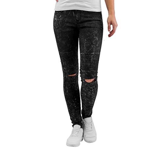 Sixth June Donna Jeans / Jeans slim fit Destroyed Nero