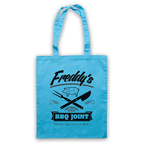 Inspiriert durch House Of Cards Freddy's BBQ Joint Inoffiziell Umhangetaschen Hellblau