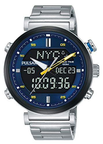 Pulsar Reloj Analógico-Digital para Hombre de Cuarzo con Correa en Acero Inoxidable PZ4049X1
