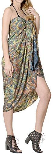 LA LEELA Strandbadebekleidung Hand bemalt Bikini Rock Bademoden Badeanzug Sarong königsblau Wickeln -