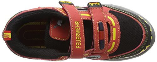 Kappa Feuerwehr Low Ii, Scarpe da Ginnastica Basse Unisex – Bambini Rosso (Red/black)