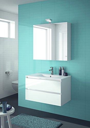 ALLIBERT Badmöbel-Set Badmöbel vormontiert weiß Spiegelschrank Waschtisch 80 cm