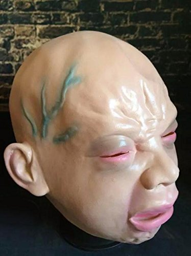 Mann Kostüm Bat Dog - Halloween Gruselige Maske für Männer Latex Gruselige Hässliche Halloween Maske Kostüm Party Requisiten Kopf Maske