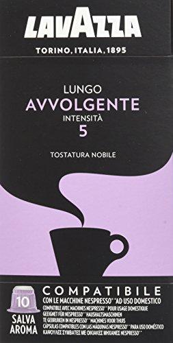 Lavazza Cápsulas de café Lungo Avvolgente - Paquete de 5 x 10 cápsulas - Total 250 g