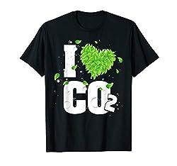 I Love Co2 Atemluft für Pflanzen Kohlendioxid Anti Grüne T-Shirt