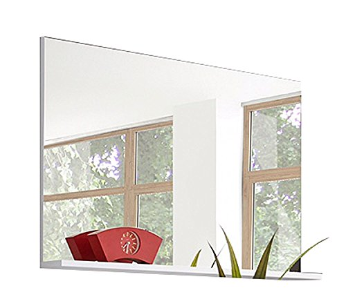 Garderobenspiegel Flurspiegel Wandspiegel MIRAMAR 3 | 68x100 cm | Weiß | mit Ablage