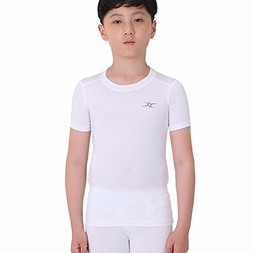 hirt Unterwäsche Jungen Youth unter Base Layer Short Sleeve Top SK Gr. Small, weiß ()