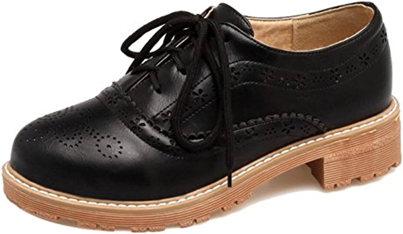 COOLCEPT Damen Mode Brogue Schuhe Dicke Sole