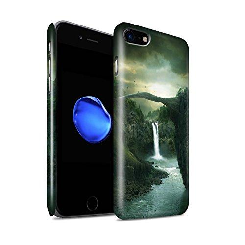 Officiel Elena Dudina Coque / Clipser Brillant Etui pour Apple iPhone 8 / Endroit Calme Design / Fantaisie Paysage Collection Pont/Lac