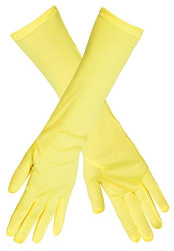 Das Kostümland Handschuhe Angelica - Neon Gelb
