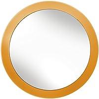 Kleine Wolke Styropor®-/Glas Kosmetikspiegel, black-parent Modern Orange