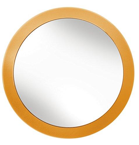 Kleine Wolke Styropor-/Glas Kosmetikspiegel, Black-Parent Modern Orange