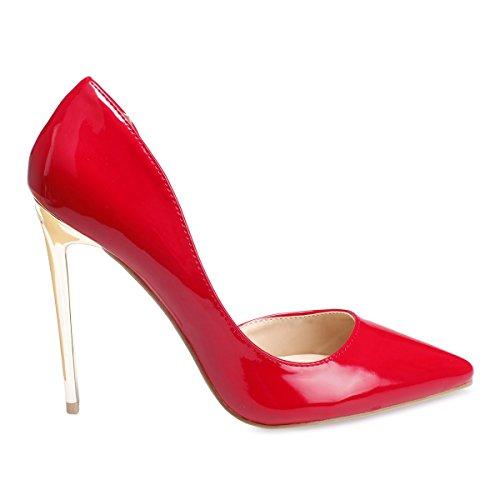 La Modeuse Escarpins StilettosVernis Rouge