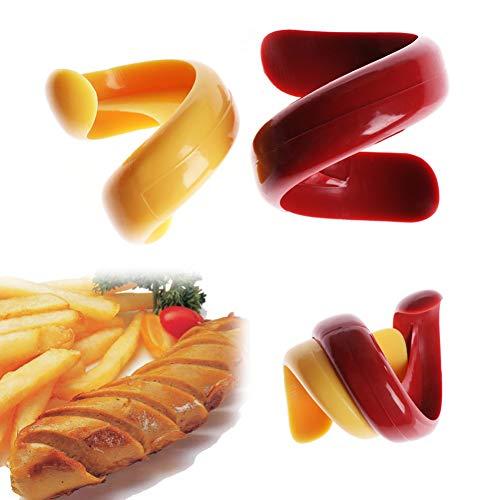 HIUGHJ Haushaltsreinigung 2 STÜCKE Gemüse Werkzeuge Slicer Grill Spirale Manuelle Phantasie Wurst Cutter küche Schneiden Hilfsgerät -