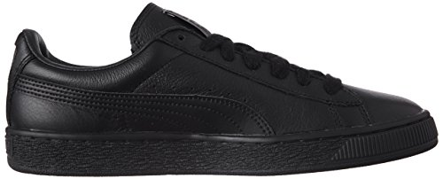 Puma Basket Classic Lfs, Herren Sneakers Schwarz (black / Team Gold)