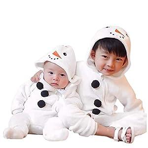 Mono de muñeco de Nieve Niñito Bebé Invierno Lindo Chico Chica Navidad Cosplay de muñeco de Nieve Disfraz Mameluco… 8