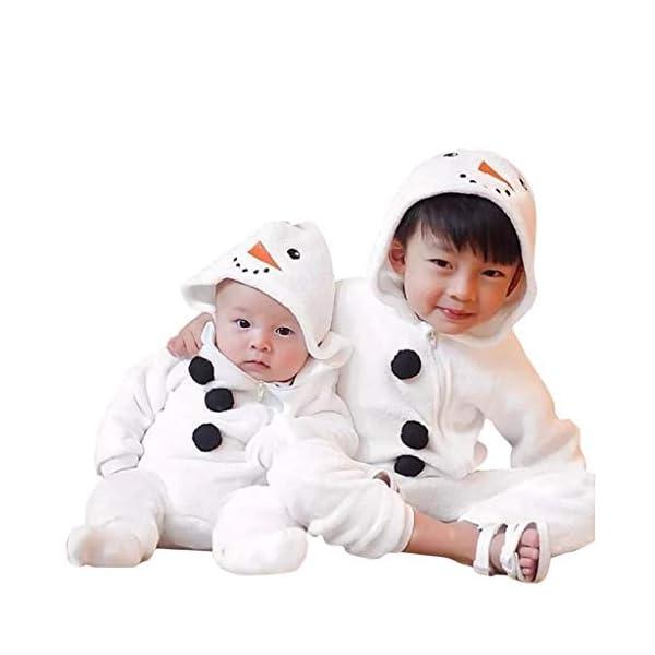 Mono de muñeco de Nieve Niñito Bebé Invierno Lindo Chico Chica Navidad Cosplay de muñeco de Nieve Disfraz Mameluco… 1
