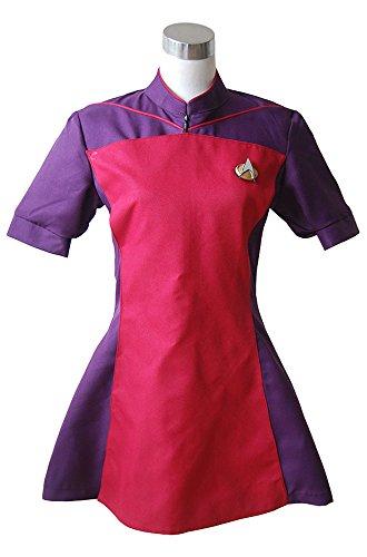 Star Trek TNG The Next Generation Red Skant Uniform Cosplay Kostüm Damen (Skant Trek Star Kostüm)