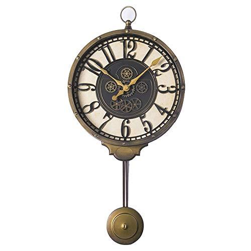 Tipo: reloj de paredMaterial: hierro, plástico, vidrioColor: bronceForma: unilateralTamaño: (Observe el dibujo acotado)Altura: 57 cmAncho: 27 cm / 10.62 pulgadasPeso: 1kgForma: AlienTipo de servicio: CuarzoTipo de pantalla: AgujaEstilo: europeoCaract...