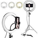 Cabriza BL-84E Portable & Adjustable Design 10 inch Big Selfie Light for Makeup, You Tube Videos, Photography Compatible for Mobile & Small Cameras
