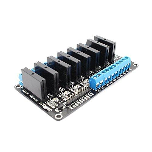 DollaTek 5V 8-Kanal Solid State Relay High Level Trigger SSR Modul Board für Arduino ARM DSP PIC mit resistiver Sicherung (Pic-board)