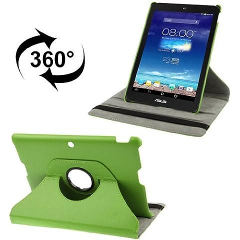Custodia Cover Litchi Texture 360° ROTABILE in Eco Pelle colore Verde di alta qualità per Asus MeMO Pad FHD 10 ME302C-1B062A