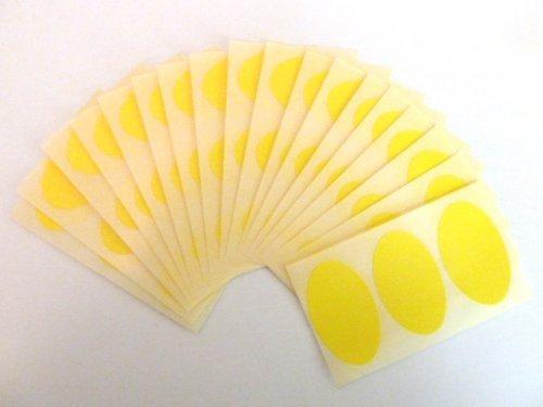 54 etiquetas, 50x30mm ovalado, amarillo, extraible/adherencia BAJA código de color PEGATINAS, autoadhesivo Adhesivo Etiquetas Colores