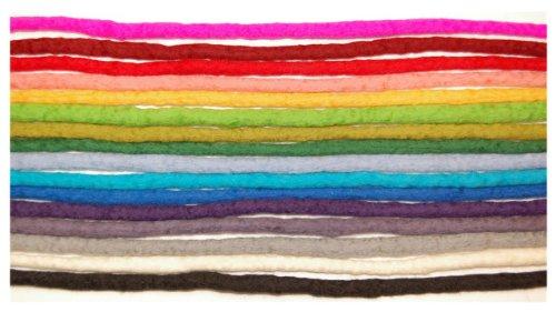 Handmade Dreadlocks - Rainbow coloured double ended merino wool dreads