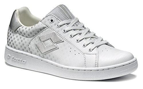 Chaussures Sportive Gymnastique Casual Blanc Blanc Similicuir Femme Fille Automne.lotto 1973 Vi Star Wart T0063 Blanc