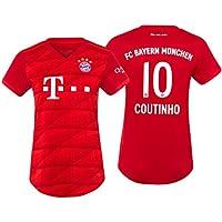K&P Sports Maglia Philippe Coutinho Bayern Munich Rossa 2019/20 - Donna(Rossa,S)