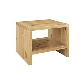 Erst-Holz® Nachttisch Kiefer massiv modernes kubisches Nachtkästchen in offener Form 90.20-K5