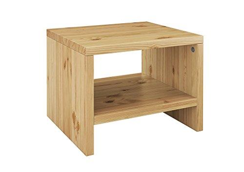 Erst-Holz® Nachttisch Kiefer massiv modernes kubisches Nachtkästchen in offener Form 90.20-K5 (Kiefer-holz-nachttisch)