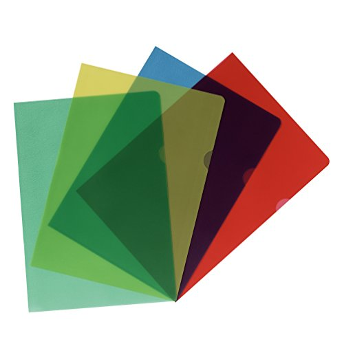 Herlitz 11420254 Aktenhülle, A4, sortiert, 20 Stück, genarbt farbig