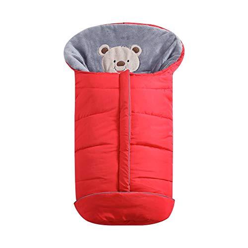 Babyfußsack Warm Fußsäcke Für Kinderautositze Wasserdicht Winter-Einschlagdecke Universal Für Kinderwagen, Sportwagen, Buggy (Rot/Marine)
