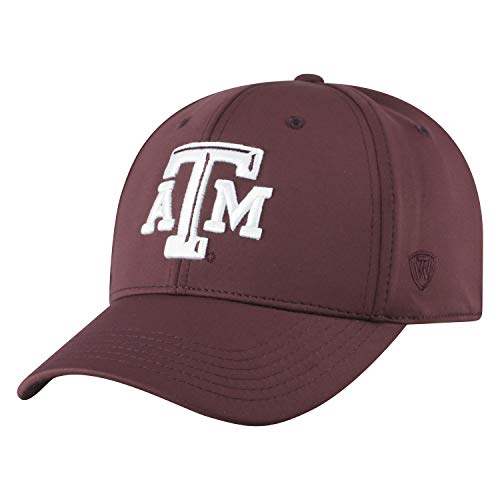 Top of the World Herren Mütze NCAA One Fit Phenom Team Icon, Herren, NCAA Men's One Fit Phenom Team Icon Hat, Texas A&M Aggies Maroon, Einstellbar