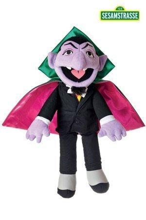 Sesamstraße Kostüm Figur - Living Puppets Plüschfigur, Fingerpuppe GRAF Zahl - Sesamstrasse