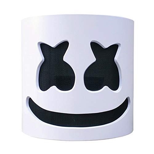 Yalatan Marshmello-Helme DJ-Vollkopf-LED-Maske DIY Cosplay Halloween Party Bar Musik Requisiten Neuheit beleuchtet anonymes Festivalkostüm für Kinder (Daft Punk Kostüme Für Kinder)