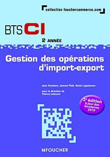 Gestion des opérations d'import-export 2e année BTS