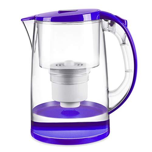 Wolaoma Potable Direct Net Ménage Bouilloire Robinet Filtre À Eau Cuisine Filtre Bouilloire Ultrafiltration Composite (Couleur : Purple+Clear, taille : 25 * 23cm)