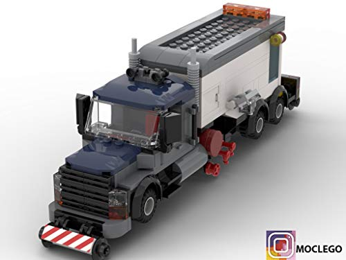 Truck with radar for tracking the fatigue rail metal (Instruction Only): MOC LEGO (English Edition)
