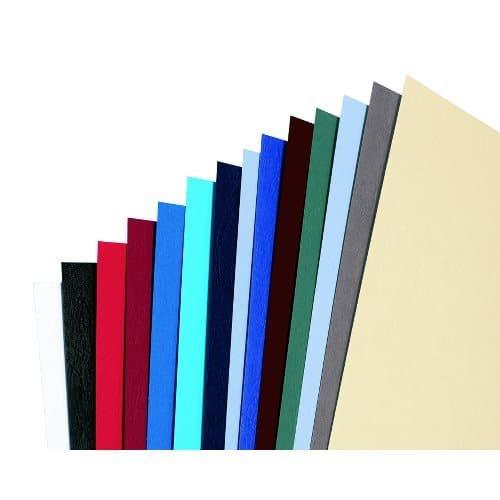 Rexel Acco Einbanddeckel (Ledernarbung, mit Fenster, 280 g/qm, Format A4) 25 x 2 Stück blau