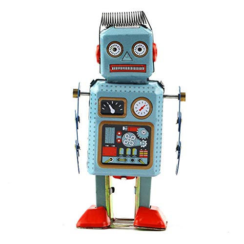 Vektenxi Premium Qualität Nette Vintage Roboter Mechanische Uhrwerk Wind Up Metal Walking Spielzeug Kinder Geschenk - Walking-spielzeug-roboter