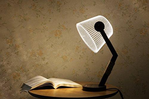 CITTATREND LED Dimmbare Nachttischlampe - 3D Visual Acryl Konische Roll Deco Beleuchtung - Geschenk für Weihnachten Geburtstag Schlafzimmer Kinderzimmer