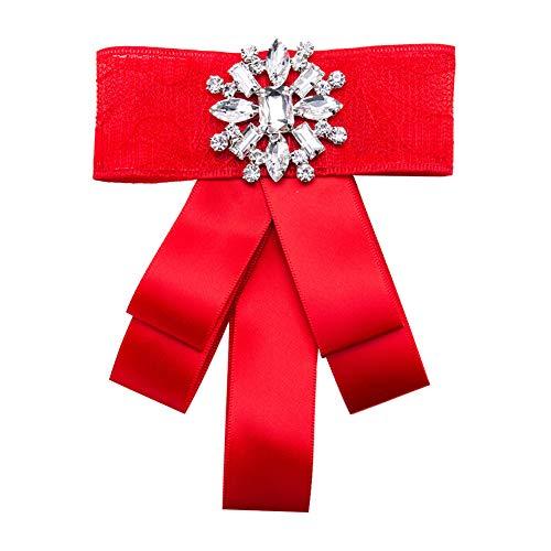 JUNGEN Schleifenbrosche Schneeflocke Broschen Retro Boutonniere für Bekleidungs Damen Weihnachtsschmuck