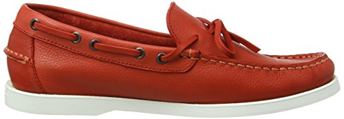 Hackett London Lace Docksider, Chaussures Bateau Homme Rouge (Red)