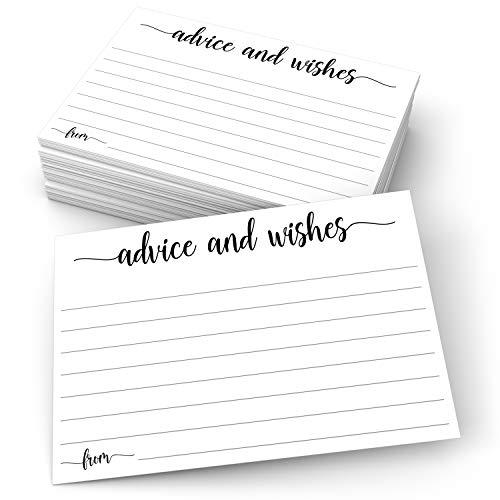 321Done Ratschläge und Wunschkarten, 10 x 15 cm, Weiß, blanko, für Hochzeit, Braut, Herr und Herrn, Ruhestand, Babyparty, Made in USA