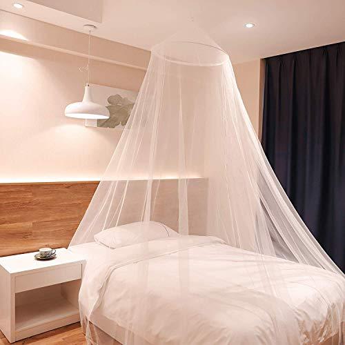 Sekey 60x220x850 cm Moskitonetz Für Einzel- und Doppelbette | Moskitonetz Bett | Mesh Insektennetz | Mückenschutz | Insektengitter | Schnelle und Einfache Installation, Betthimmel Baldachin